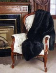 Black Throw  Faux Fur