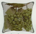 Green Grapes Petit Point Pillow