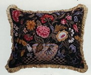 Orvieto Petit Point Black Back Pillow