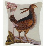 Pheasant Needle Point Pillow