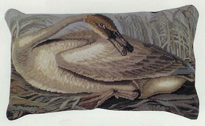 Trumpeter Swan Needle Point Pillow