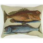 Two Fish Needle Point Pillow