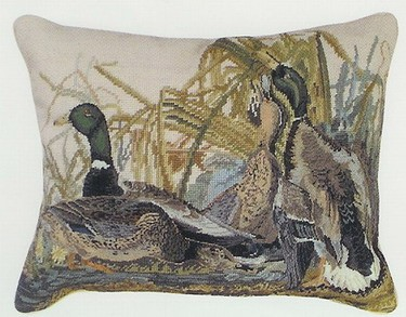 Mallard Pillow - Beige Back