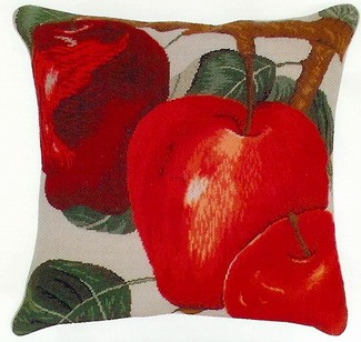 Red Delicious Apples Mixed Stitch Beige Back