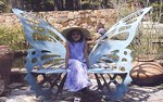 Butterfly  Garden Bench Hand Crafted  Steel Original  Designer