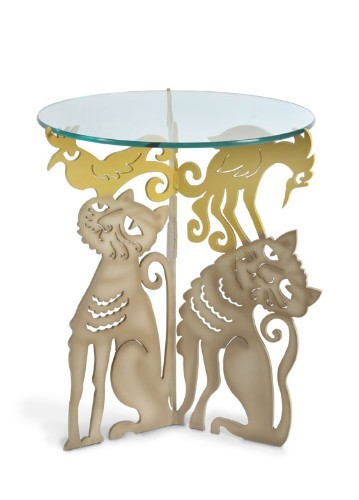 Cat Trio Table