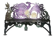 Bird Bench  Hand Crafted Steel Plus Free Shipping
