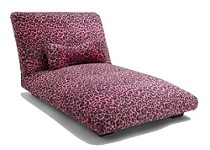 Hot Pink Cheetah Dog Bed  Custom  Made with Wooden Legs