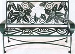 Magnolia Garden Bench Hand Crafted Steel