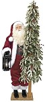 Plaid Merriment Father Christmas  Lifesize Santa 57 inches Available in African American