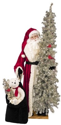 Lifesize Father Christmas Santa 57 inches Available In African American Retro Santa