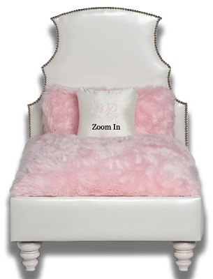 Upscale Pink Designer Dog Bed For Dogs up to 35 pounds Free Shipping