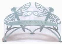 Dragonfly Garden  Bench Hand Crafted Steel