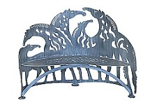 Horse Bench Hand Crafted Steel